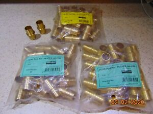 1 Pex Coupling Brass 1 Inch Crimp Coupler Fitting Lead Free Lot Of 25