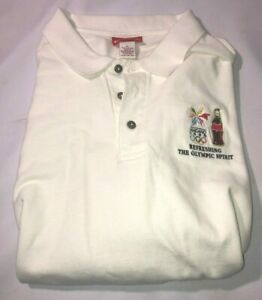 Coca Cola Year 1998 Nagano Japan Olympics POLO SHIRT