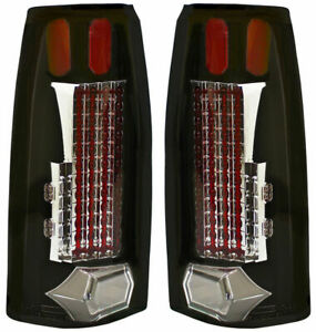 New Black Led Tail Lights For 88 98 Chevrolet Gmc Cadillac Gm2801104 Gm2800104