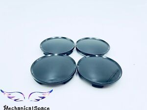New 4pcs 63mm Universal Black Car Truck Wheel Center Hub Cover Caps Us Seller