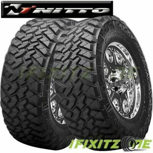 2 X Nitto Trail Grappler M T Lt285 55r22 E 10 124q Mud Terrain Tires