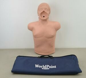 Simulaids Adult Cpr Training Airway Torso Manikin Emt W Carry Bag l22