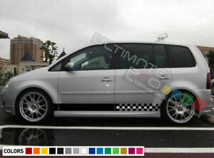 Stickers Decal For Vw Volkswagen Touran Stripe Body Door Compact Mpv 2005 2006