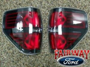 09 Thru 14 F 150 Oem Genuine Ford Svt Raptor Black Tail Lights Lamps pair Of 2