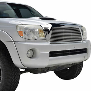 Fit For 2005 2011 Toyota Tacoma Chrome Aluminum Billet Grille shell