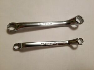 Snap on 3 8 X 7 16 And 1 4 5 16 Double Box End Offset Wrench Xs1214s xs0810s
