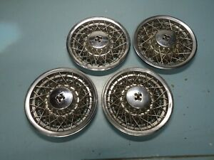 Set 4 Factory Oem Gm Wire Wheel Rim Hub Cap Hubcap 1980 1985 Oldsmobile Olds