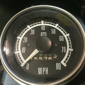 Sw Speedometer Vintage 80 Mph Rat Hot Rod Stewart Warner Speedo