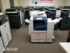 Xerox Workcentre 7855 Color Copier Printer Scanner With Stapling Finisher