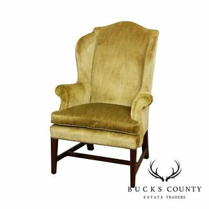 Virginia Craftsmen Reproductions Vintage Chippendale Style Wing Chair
