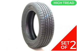 Set Of 2 Used 235 55r18 Goodyear Assurance All season 100h 8 8 5 32