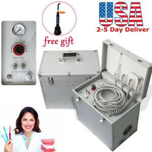 Dental Turbine Unit Suction Work Air Compressor 3 Way Syringe 4 Holes Machine Us