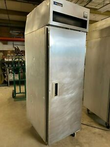 Delfield Commercial Single 1 Door Reach in Food Drink Store Refrigerator Cooler
