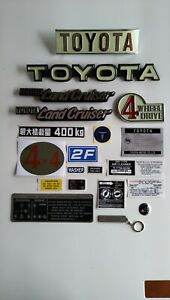 Toyota Land Cruiser Fj 40 1979 1984 Rear And Front Emblems