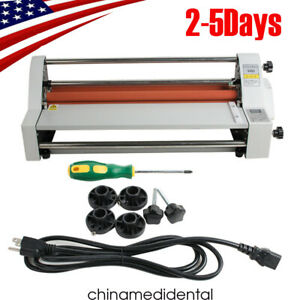 Hot And Cold Roll Laminating Machine Automatic Temperature Control Usa Ship Fast