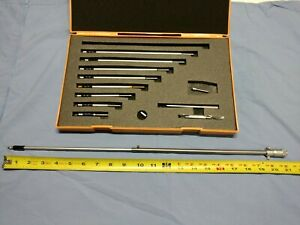 Mitutoyo Id Micrometer Set No 141 133 2 21 5 Inches custom Rod Used