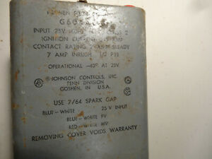 Johnson Controls G60aag 3 Proven Pilot Ignition Control used