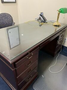Wooden Office Desk Filing Cabinet