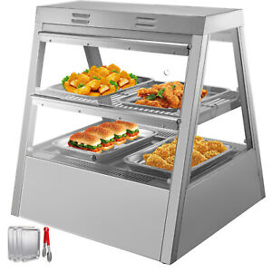 Commercial Food Warmer Pizza Warmer 27 inch Pastry Warmer With Tilt up Doors