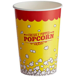 500 pack 46 Oz Round Paper Movie Theatre Concession Popcorn Cups
