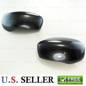 For 2005 2010 Chrysler 300 300c Black Carbon Fiber Print Look Side Mirror Covers