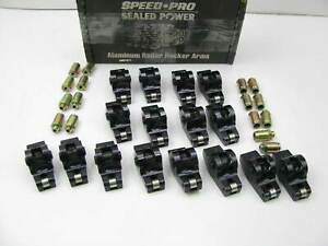Set Of 16 Performance Speed pro Rr7012r Roller Rocker Arms Sbc Small Block Chevy