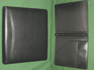 Folio 1 0 Black Leather Day Timer Planner Binder Monarch Franklin Covey 290