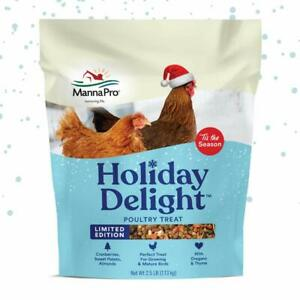 Manna Pro Holiday Delight Poultry Treat Poultry Treat For Growing Mature Bir