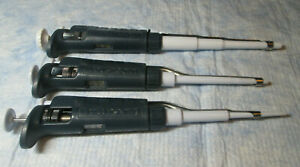 Gilson Pipetman Set Micropipette Pipet P20 P200 P1000 Calibrated Lot N