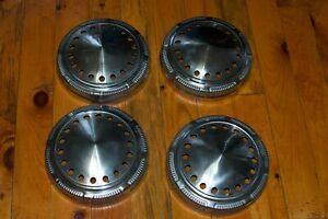 Plymouth Dodge Police Hubcaps 9 Dog Dish Vented Mopar