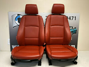 Bmw Leather Sport Seats Front Rear Coral Red E92 328i 335i Coupe