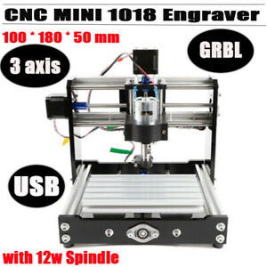 Cnc Wood Router 1018 Mini Milling Carving Engraving Machine Grbl Control 3 Axis