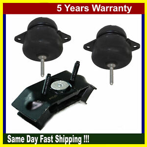 For Ford Mustang Base Convertible Rwd 4 0l Engine Motor Trans Mount Set 3pcs