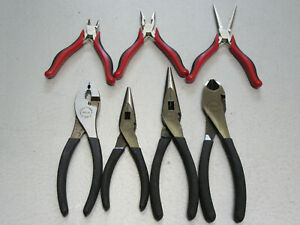 Craftsman 7pc Pliers 4 Made In Usa Diagonal Cutter Slip Joint Needle Nose