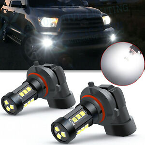 For Toyota Tundra Corolla 4runner Prius Led Fog Light Bulbs 6000k White 9006 2x