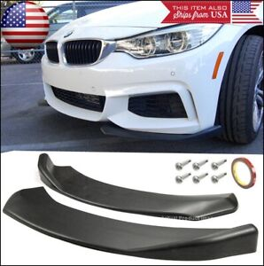 Front Bumper Lip Valance Spoiler Chin Canard Splitters Winglet Blade For Ford