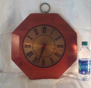 Mid Century Modern United Wall Clock Big Face 16h X 14 W Wood 60 S