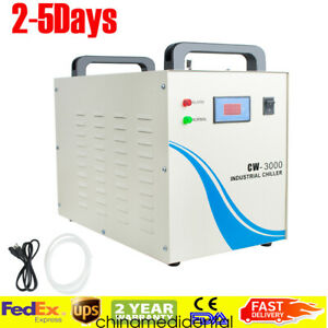 Usa Ship 9l Industrial Water Chiller Cw 3000 For Cnc Laser Engraver Machine Fda
