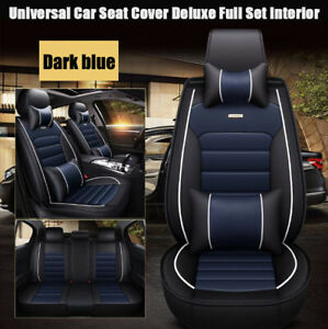 Universal Car Seat Cover Protector cushion Front Rear Full Set Deluxe Interior