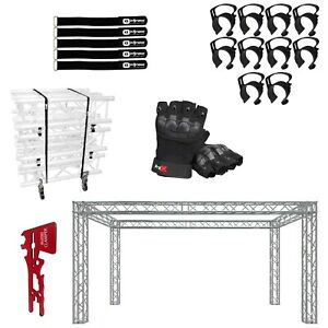 Global Truss 10 x20 x10 Junction Block Trade Booth With Accessories