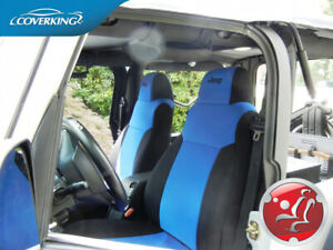 Coverking Neoprene Blue Front Seat Covers For Jeep Wrangler Tj 2003 2006