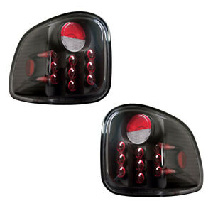 New Black Led Tail Light Set For 97 03 Ford F 150 Flareside Fo2800135 Fo2800178