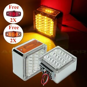 Pair Red yellow Car Running Tail Turn Lamp 39 Led 12v For Truck 4x Free Lights