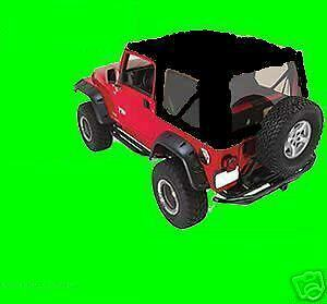 Soft Top Black Clear Windows Front Upper Doors Skins 1997 06 For Jeep Wrangler