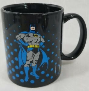 Batman Coffee Mug DC Comics 12oz Mug black blue dots bat symbol logo cup pop art