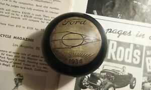 1934 Ford Shift Knob V8 Art Deco Coupe Roadster Flathead Hot Rod Dash Wheel Scta