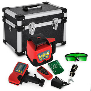 Rotary Laser Level Green Beam 500m Range Self leveling 360 Rotating Tool Kit