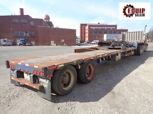 2008 Transcraft Ds 800 Fz Step Deck Flat Bed Equipment Trailer