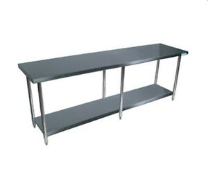 Bk Resources Svt 1896 All Stainless Work Table 96 w X 18 d 18 430 Top