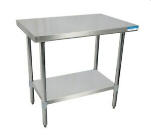 Bk Resources Svt 6024 All Stainless Work Table 60 w X 24 d 18 430 Stainless Top